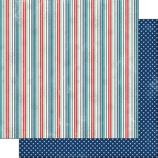 Scrapbook Customs Covid-19 Stripe Polka Dot DS - Companion pattern DS Paper 12 x 12