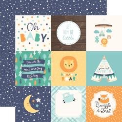Hello Baby Boy 4x4 Journaling Card