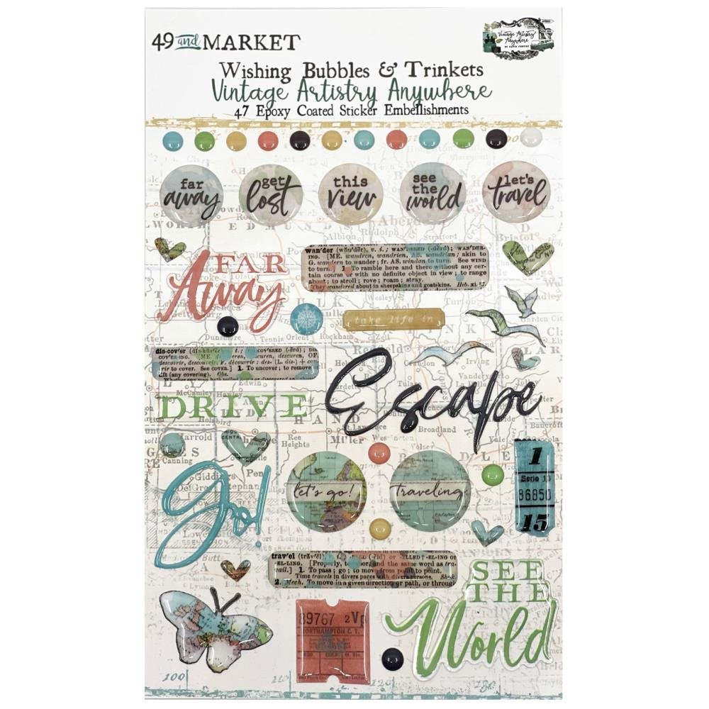Vintage Artistry Anywhere Wishing Bubbles & Trinkets-
