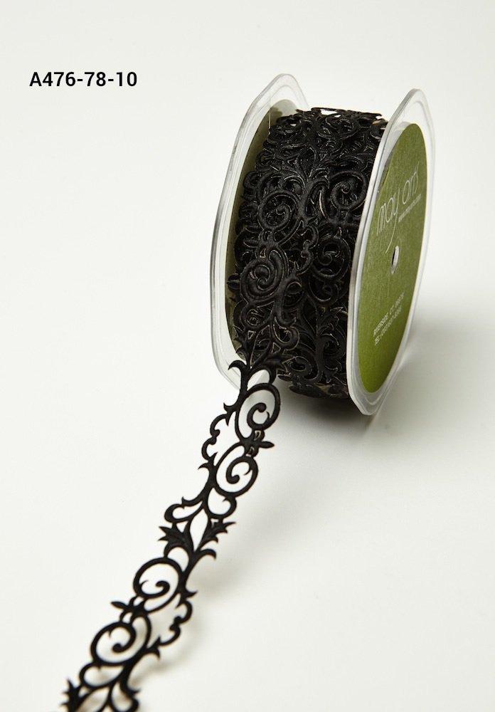Adhesive Ribbon Fleur-de-lis Black