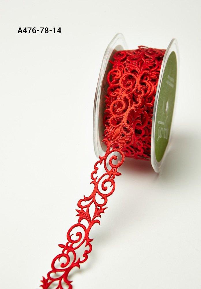 Adhesive Ribbon Fleur-de-lis Red