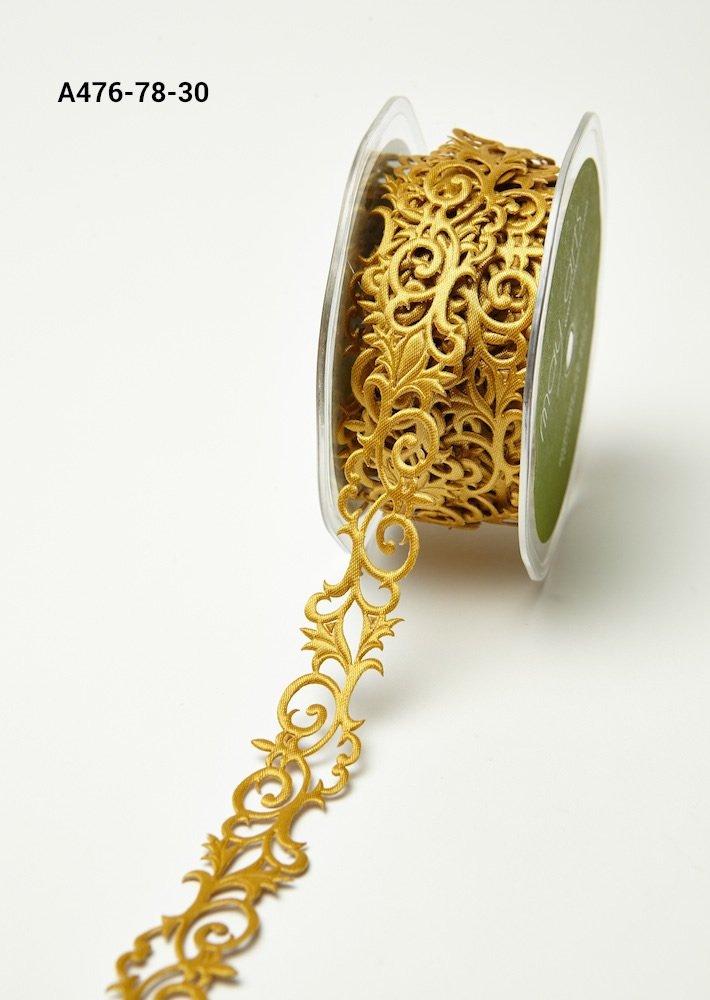 Adhesive Ribbon Fleur-de-lis Gold