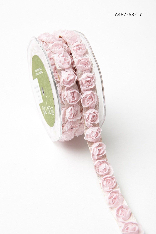 Adhesive Ribbon Roses Pink