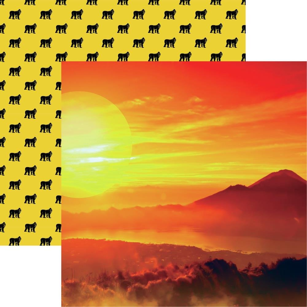 King Of The Jungle Double-Sided Cardstock 12X12-African Sunset