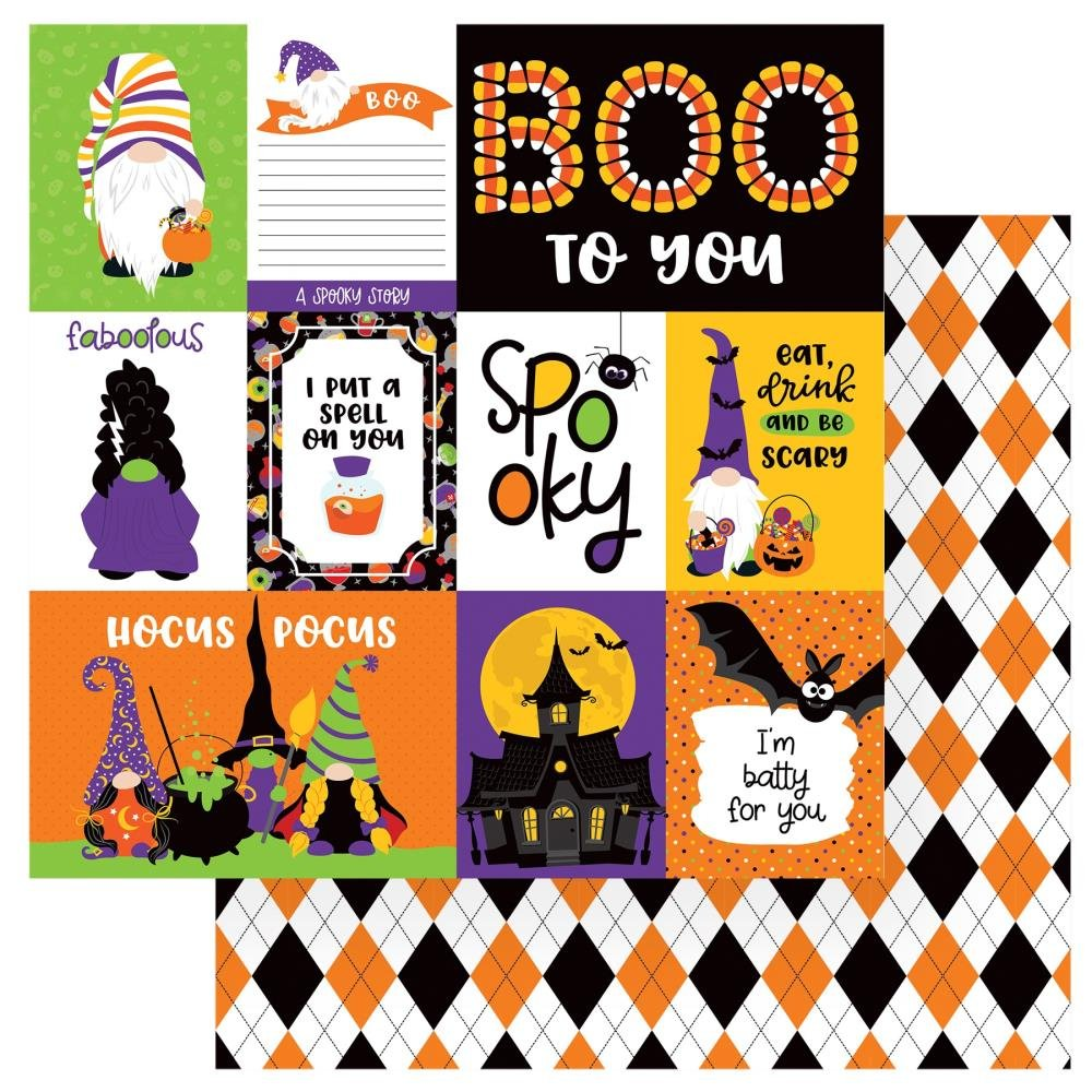 Gnome For Halloween Double-Sided Cardstock 12X12-Spooky