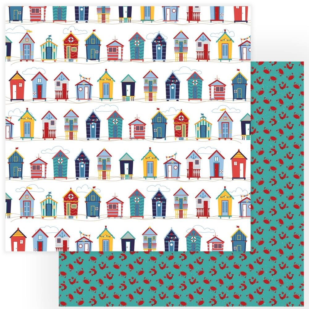 Monterey Bay Double-Sided Cardstock 12X12-Beach Huts