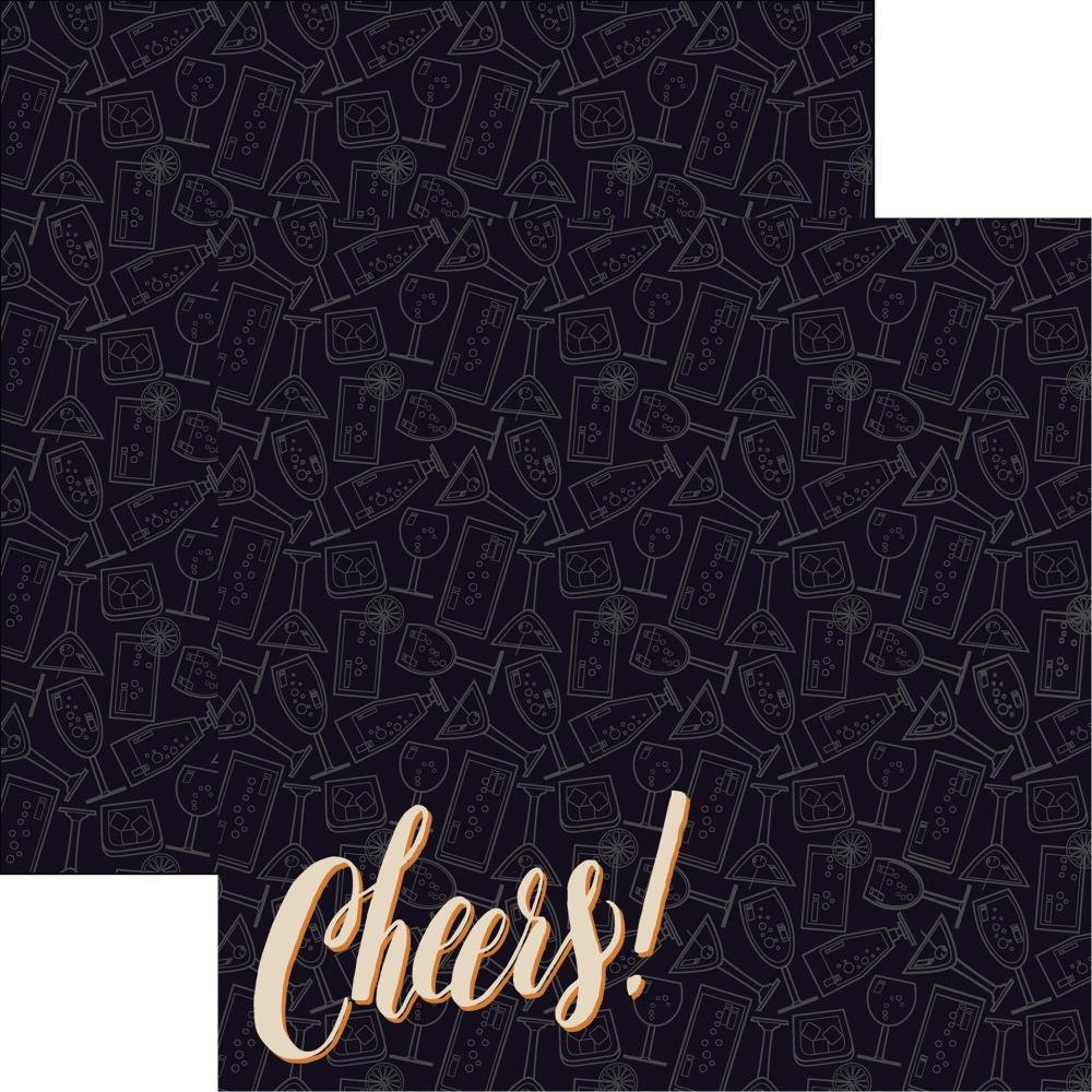 Happy Hour Double-Sided Cardstock 12X12-Cheers!