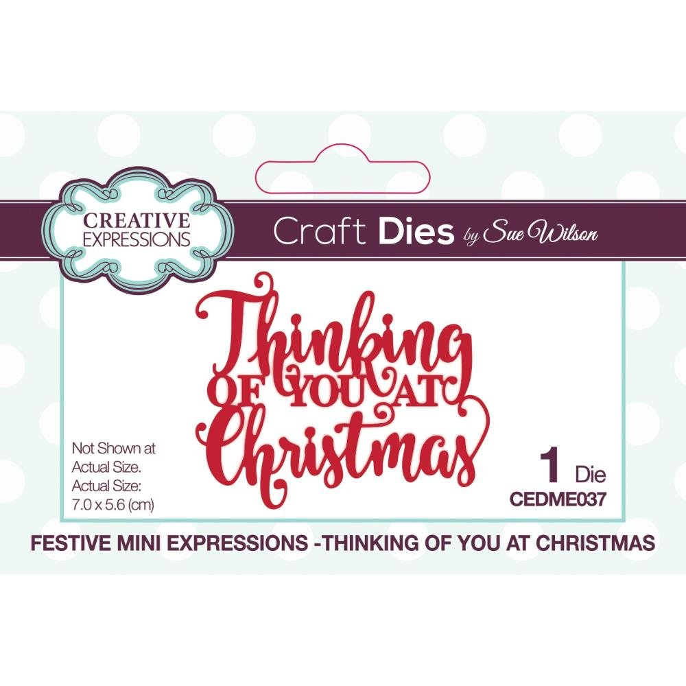 CE Die Festive Mini Expressions Thinking of You At Christmas