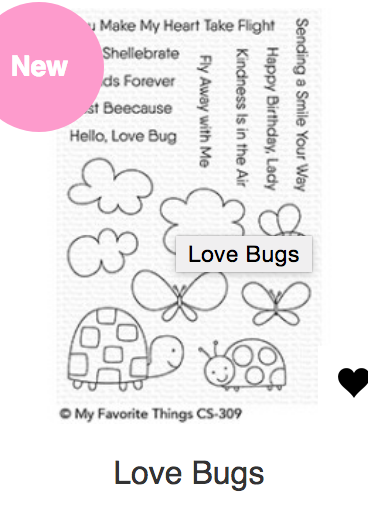 MFT Love Bugs Stamp & Die Set