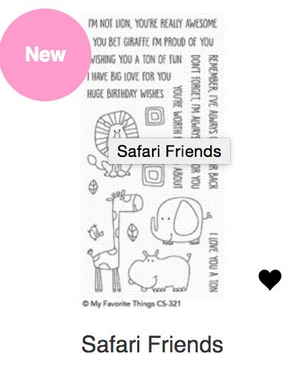 MFT Safari Friends Stamp & Die Set