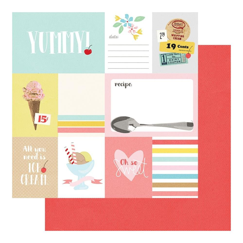A Cherry On Top Double-Sided Cardstock 12X12-Cut-Aparts