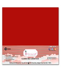 Dress My Craft Smooth Cardstock 250gsm 12X12 10/Pkg-Rich Red