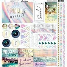 Reminisce Elements Cardstock Stickers 12X12-Picture Perfect