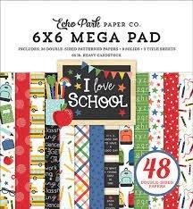 Echo Park Double-Sided Mega Paper Pad 6X6 48/Pkg-I Love School