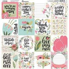 Reminisce Square Cardstock Stickers 12X12-Mom Life