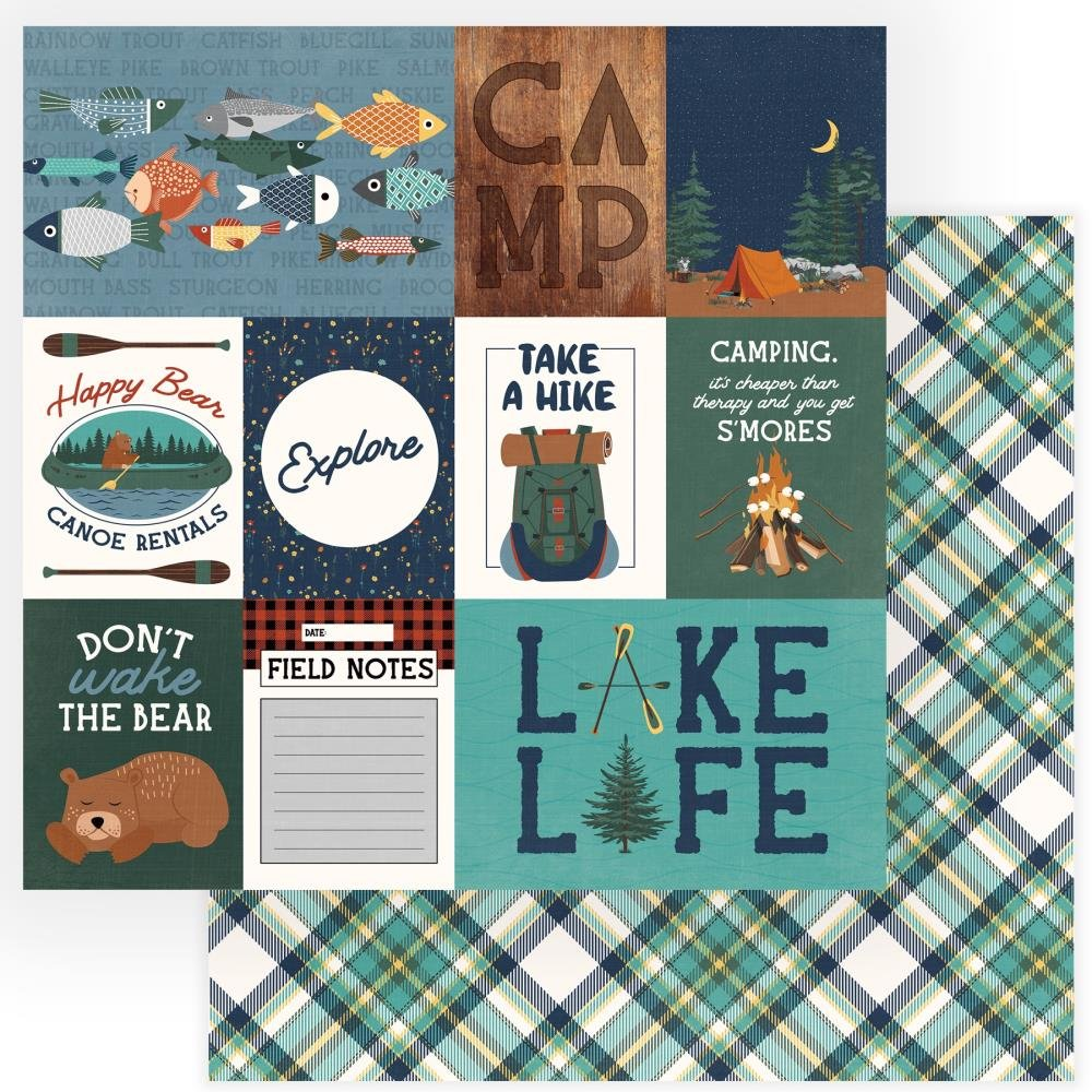 Camp Happy Bear Double-Sided Cardstock 12X12-Explore
