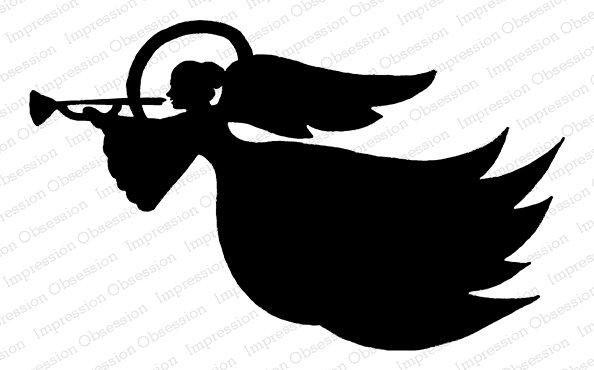 IO Stamp F23042 Angel Silhouette