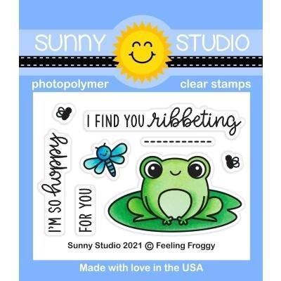 Sunny Studio Feeling Froggy Stamp