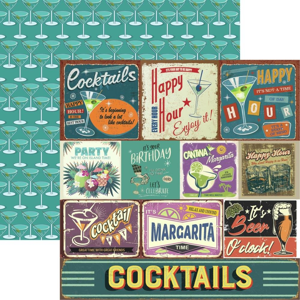 Happy Hour Double-Sided Cardstock 12X12-Happy Hour
