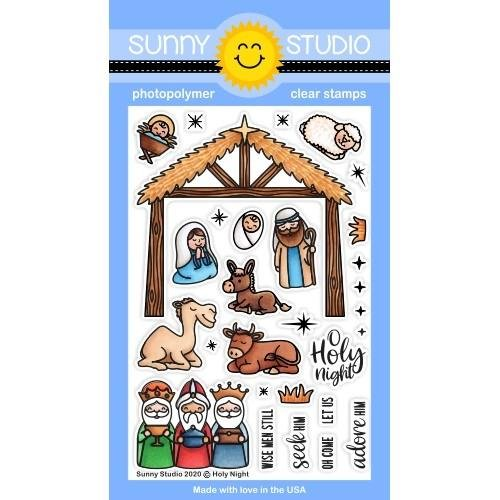 Sunny Studios Holy Night Stamps