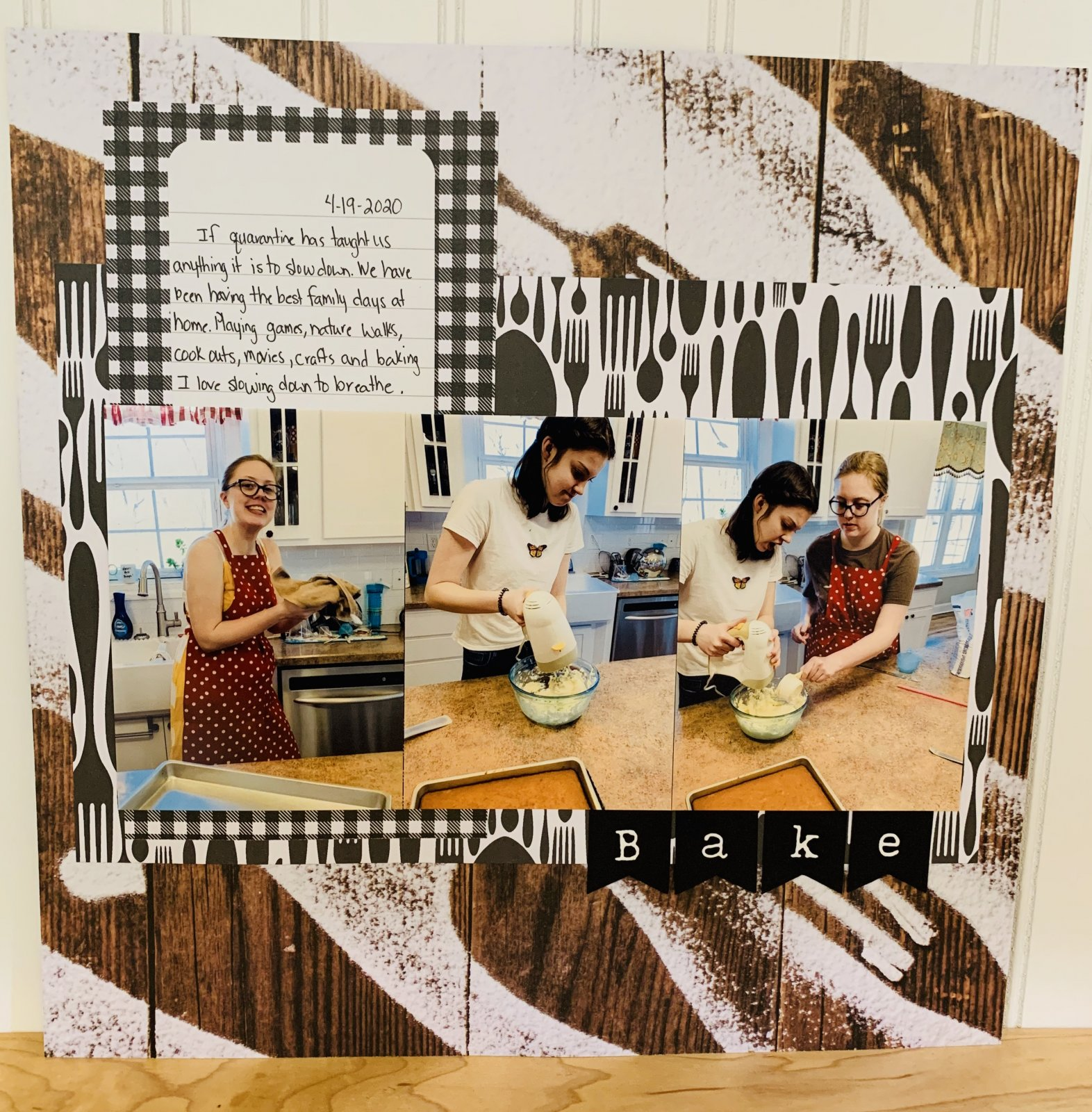 Bake Scrapbook Page Sample