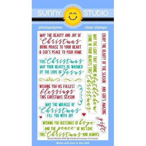 Sunny Studios Inside Greetings Christmas Stamps