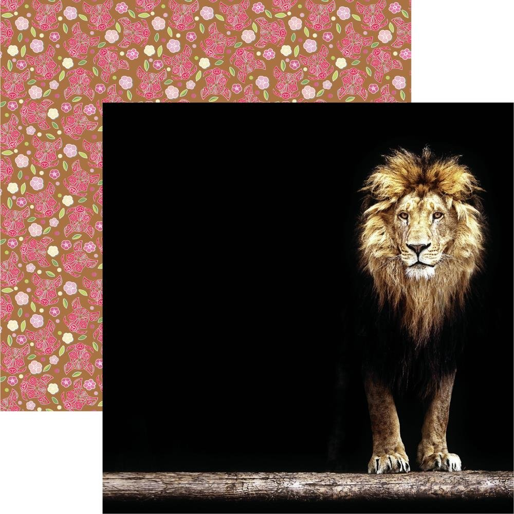 King Of The Jungle Double-Sided Cardstock 12X12-King Of The Jungle