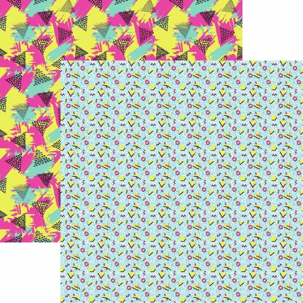 90's Flashback Double-Sided Cardstock 12X12 Let's Party