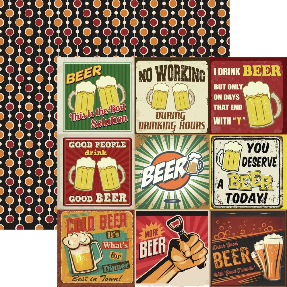 Happy Hour Double-Sided Cardstock 12X12-More Beer 2