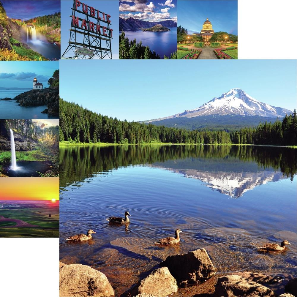 The Great Northwest Double-Sided Cardstock 12X12-Mt