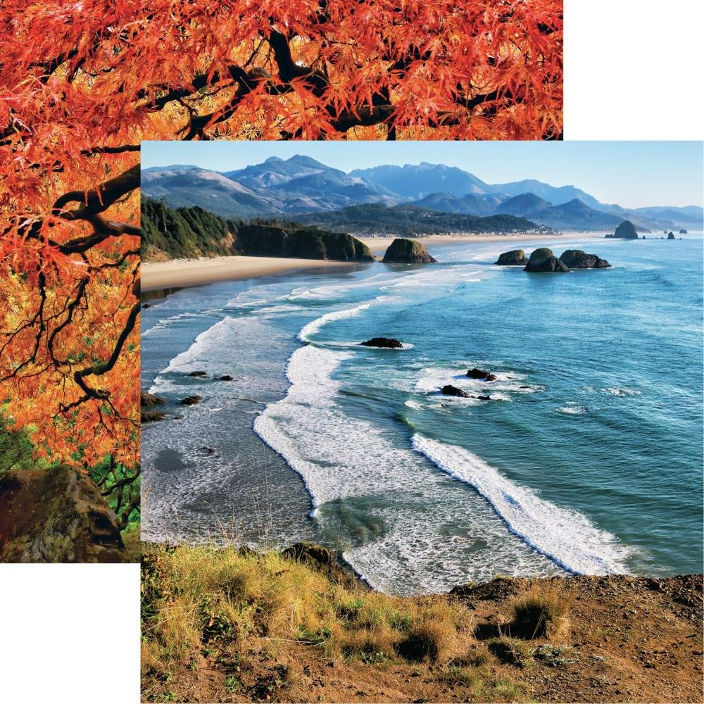 The Great Northwest Double-Sided Cardstock 12X12-Oregon Coastline