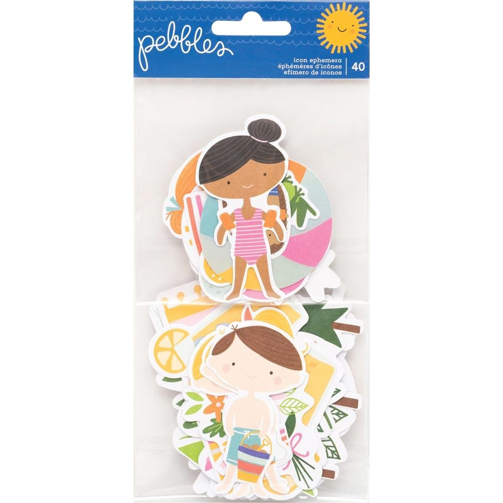 Sun & Fun Ephemera Cardstock Die-Cuts 40/Pkg-Icons