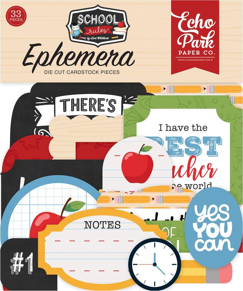Echo Park Cardstock Ephemera 33/Pkg-Icons, School Rules