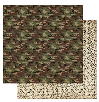 Authentique Hunting Double-Sided Cardstock 12X12 #1 Classic Camo