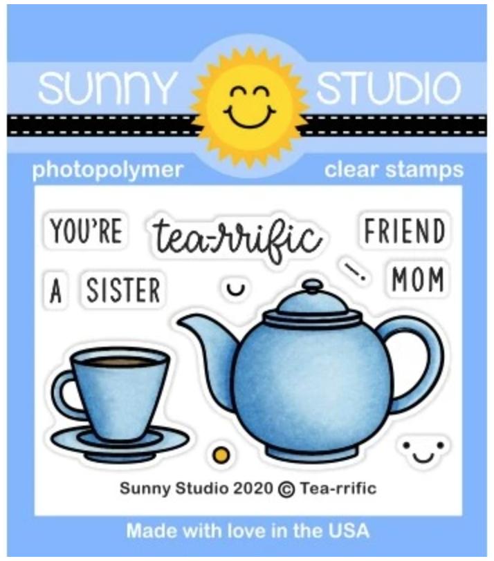 Sunny Studio Stamp Tea-riffic