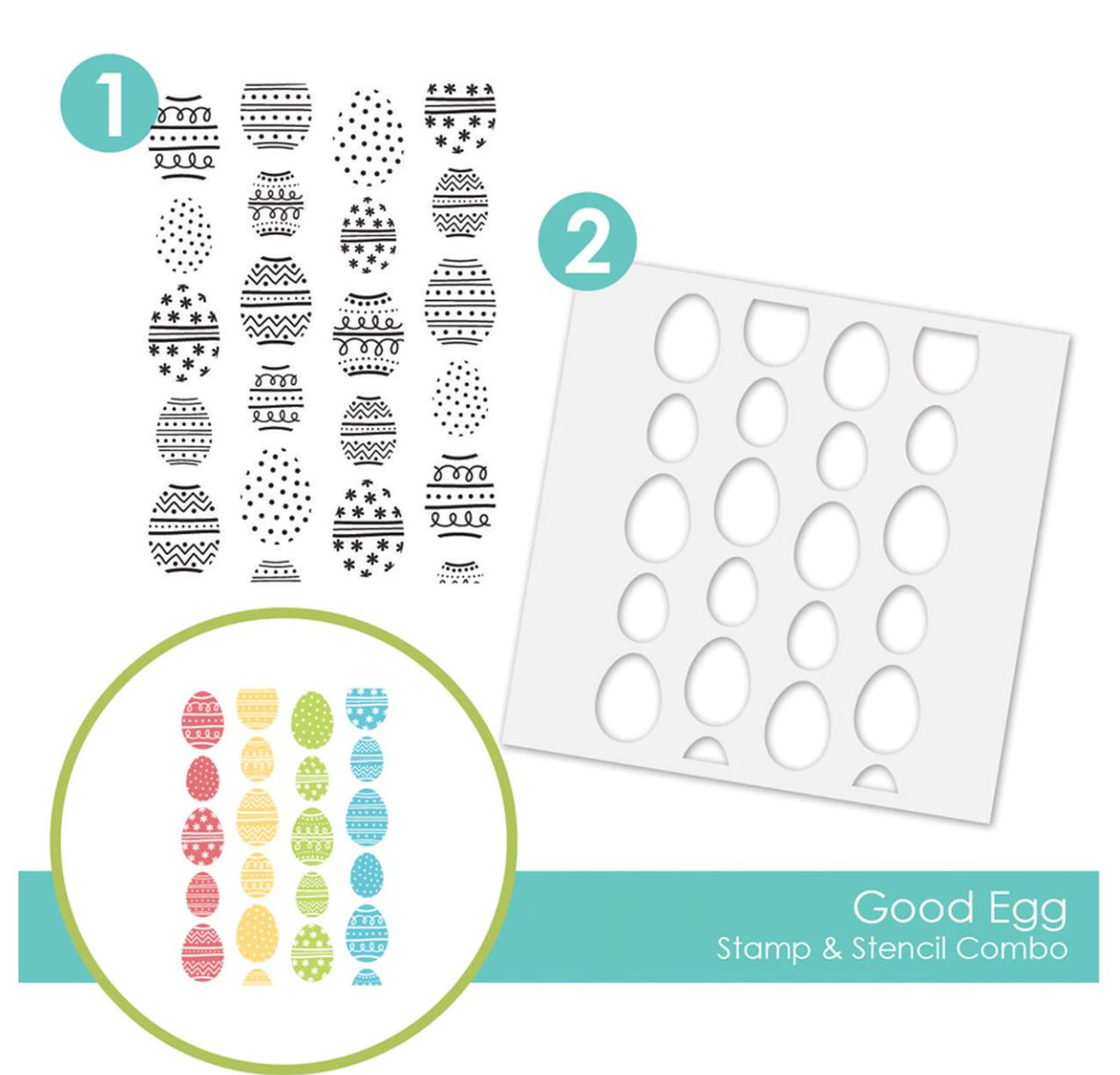TE Good Egg Stamp & Stencil Combo