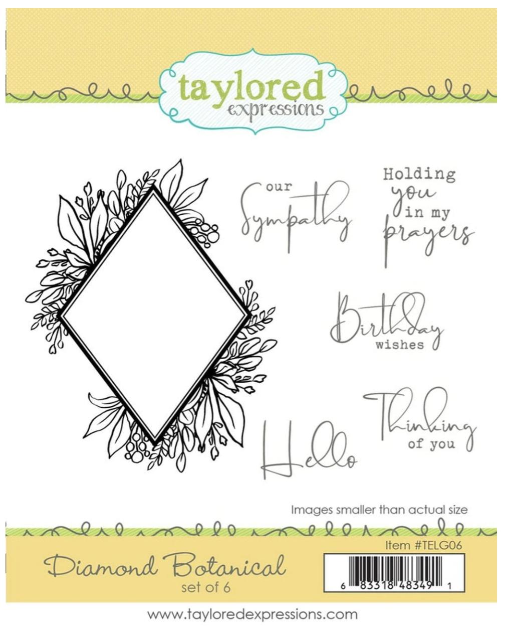 TE Diamod Botanical Stamp