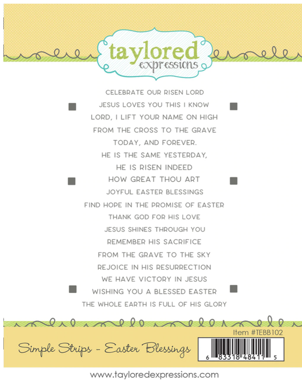 TE Simple Strips Easter Blessings Stamp