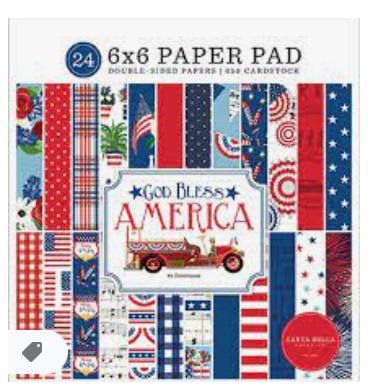 Carta Bella Double-Sided Paper Pad 6X6 24/Pkg-God Bless America