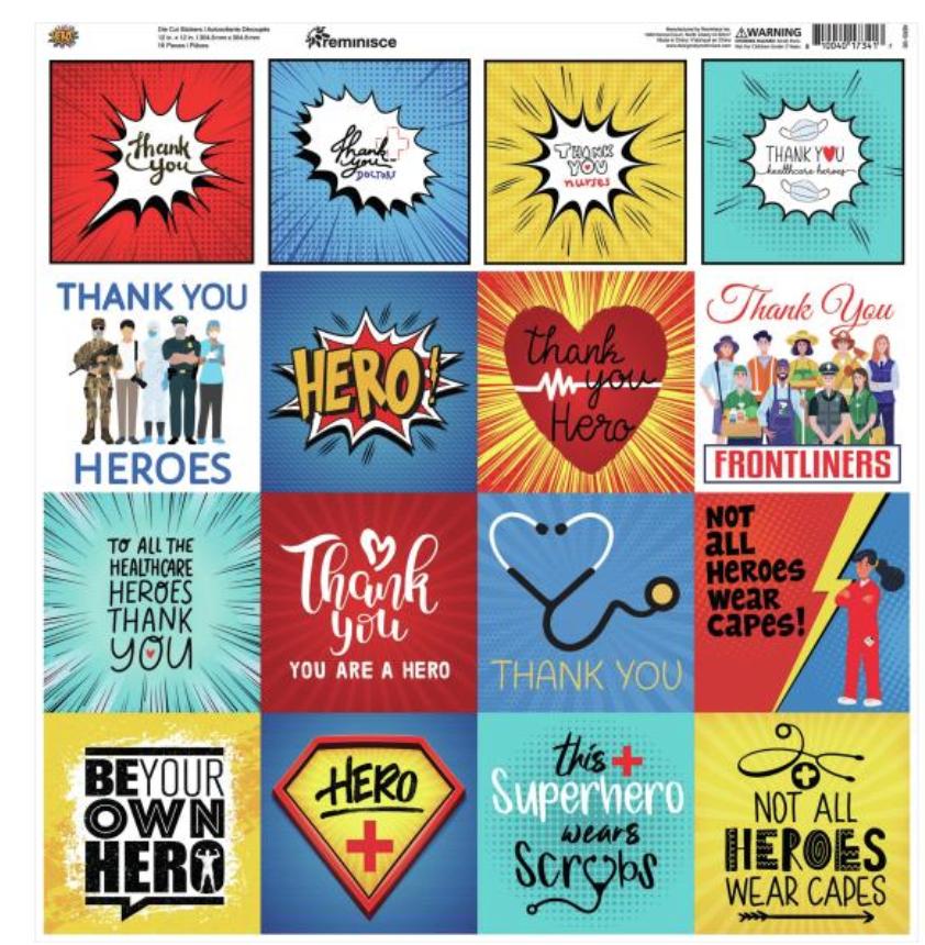 Reminisce Custom Cardstock Stickers 12X12-Hero