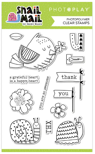 PhotoPlay Photopolymer Stamp-Snail Mail