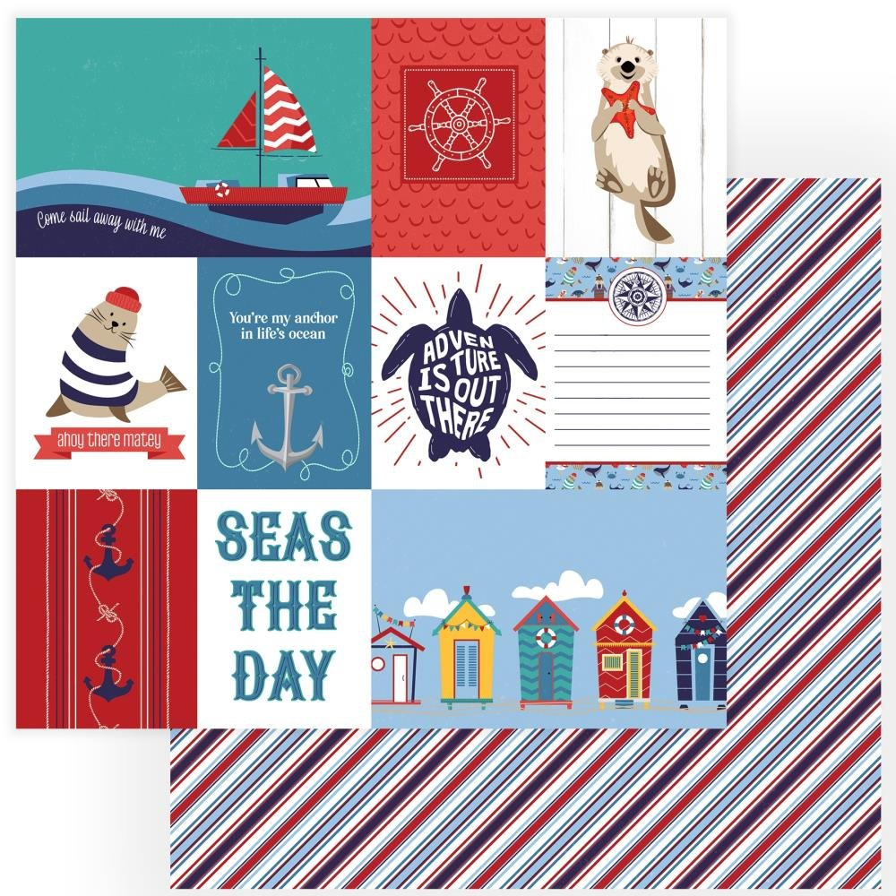 Monterey Bay Double-Sided Cardstock 12X12-Seas The Day