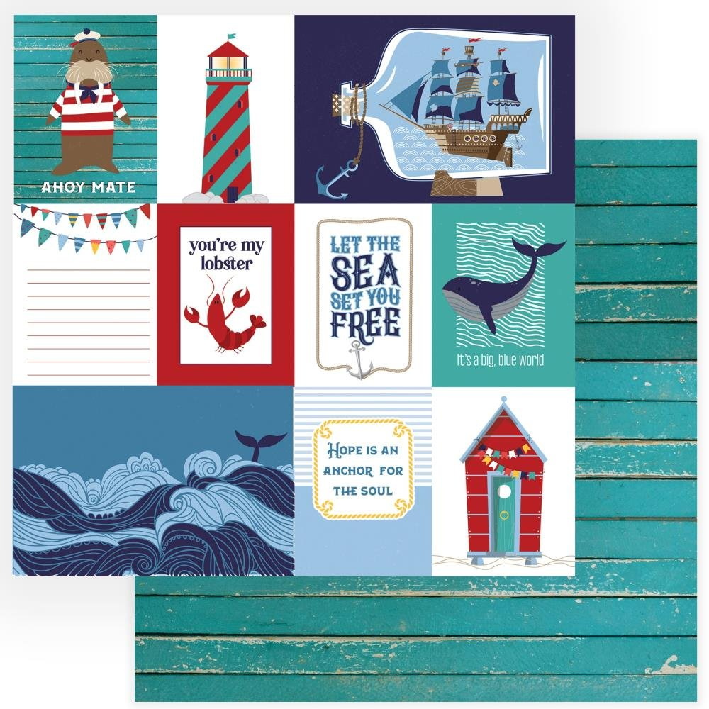 Monterey Bay Double-Sided Cardstock 12X12-Set Sail