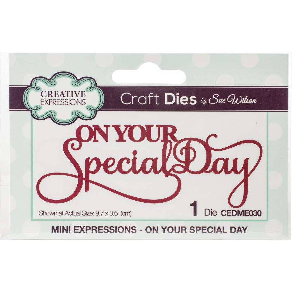CE Die Noble Expressions On Your Special Day