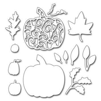 Penny Black Pumpkins & Leaves Die