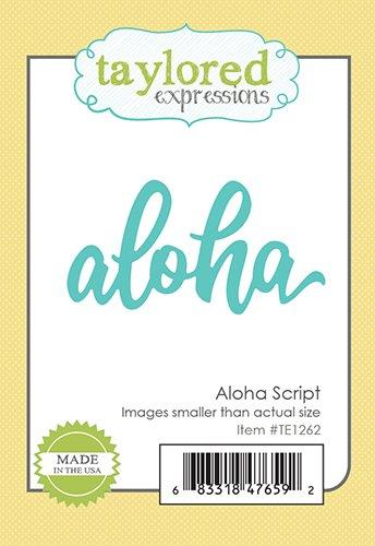TE Aloha Script Die