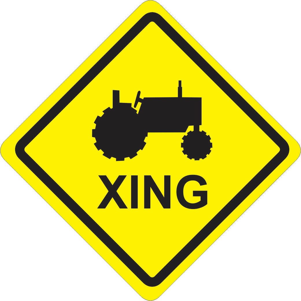 PeP Tractor Xing Sign