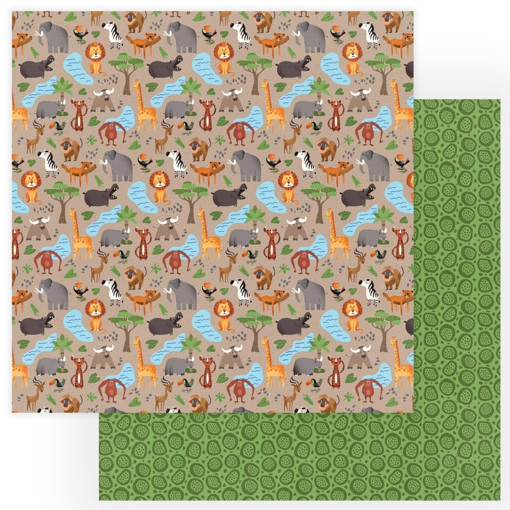 A Walk On The Wild Side Double-Sided Cardstock 12X12-Animal Kingdom
