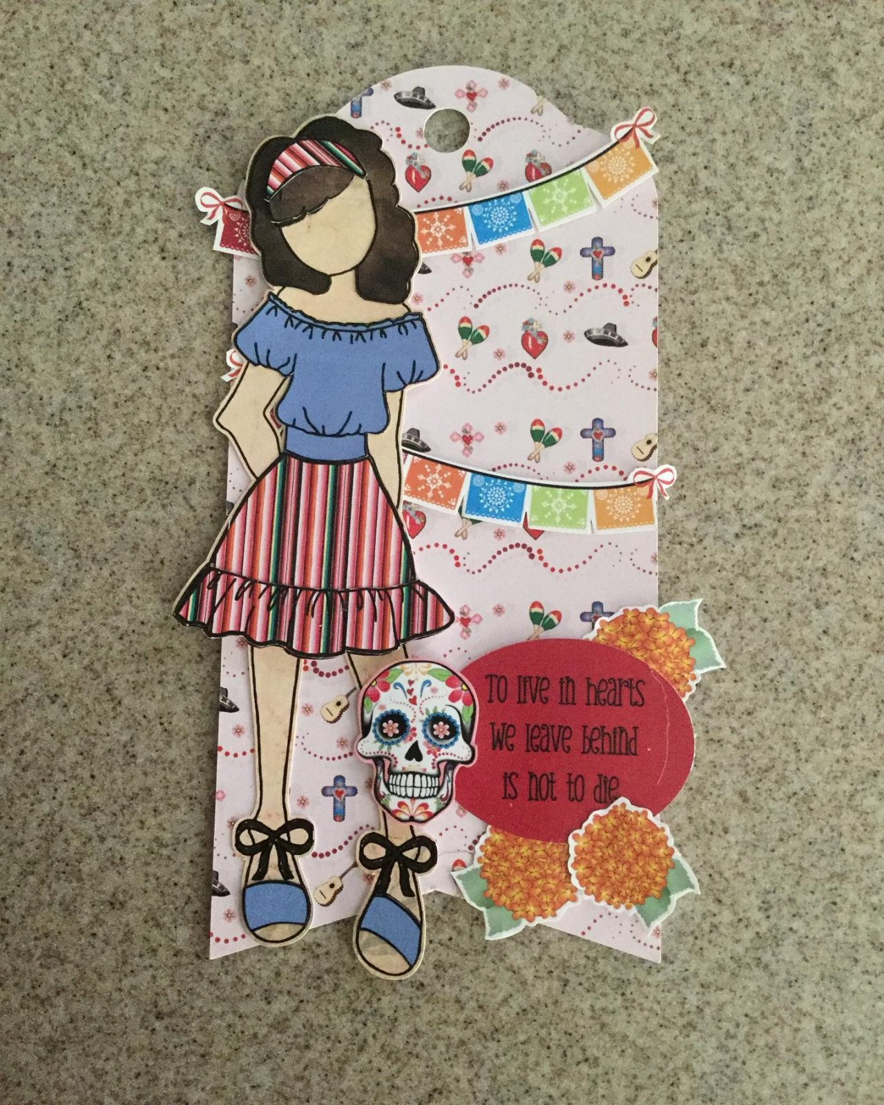 Julie Nutting Day of the Dead tag