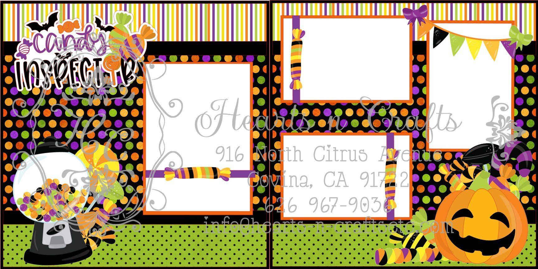 Candy Inspector 2 Page Layout